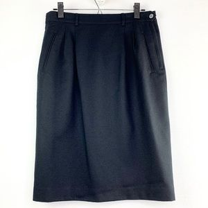 Vintage Talbots Black Pencil Skirt Size 10